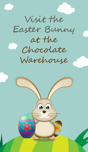 The chocolate warehouse easter bunny visit easter bunny visit negle Images